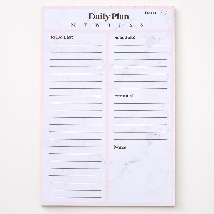 Bloc-notes calendrier journalier effet marbré - Rose,