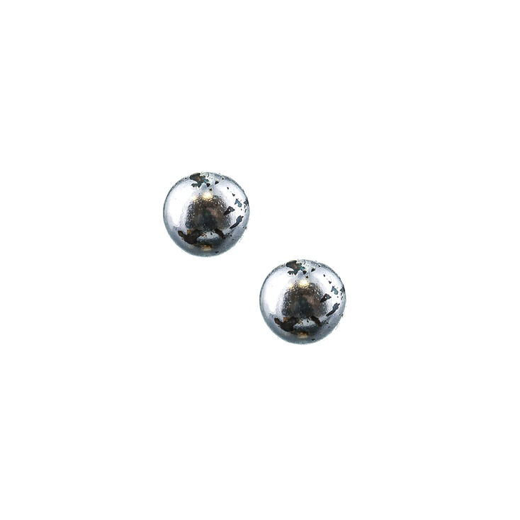 91dd8d189 Sterling Silver 4MM Ball Stud Earrings   Claire's