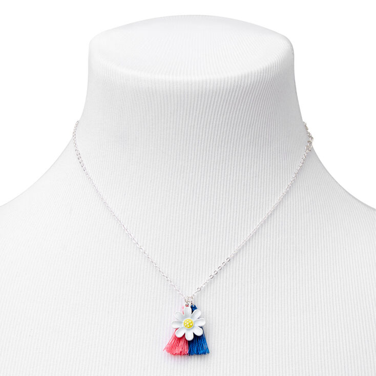 Claire's Club Coral & Navy Daisy Tassel Jewelry Set - 3 Pack,