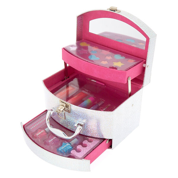 Claire's - holographic cosmetic mega case - 1