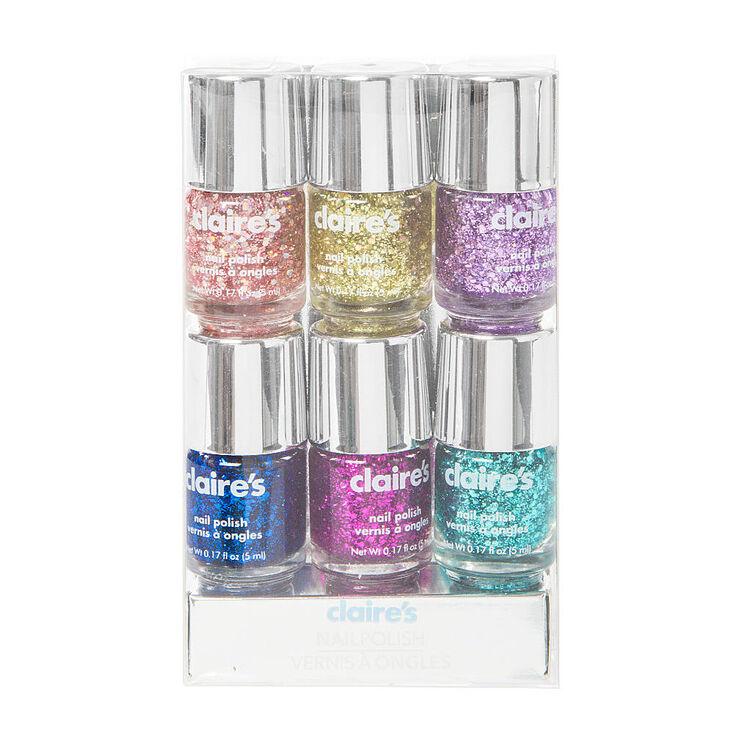 Glitter Nail Polish Buy: Glitter Nail Polish Pack 5