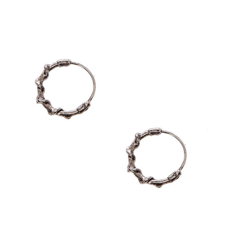 10MM Burnished Gold Rope Texture Mini Hoop Earrings