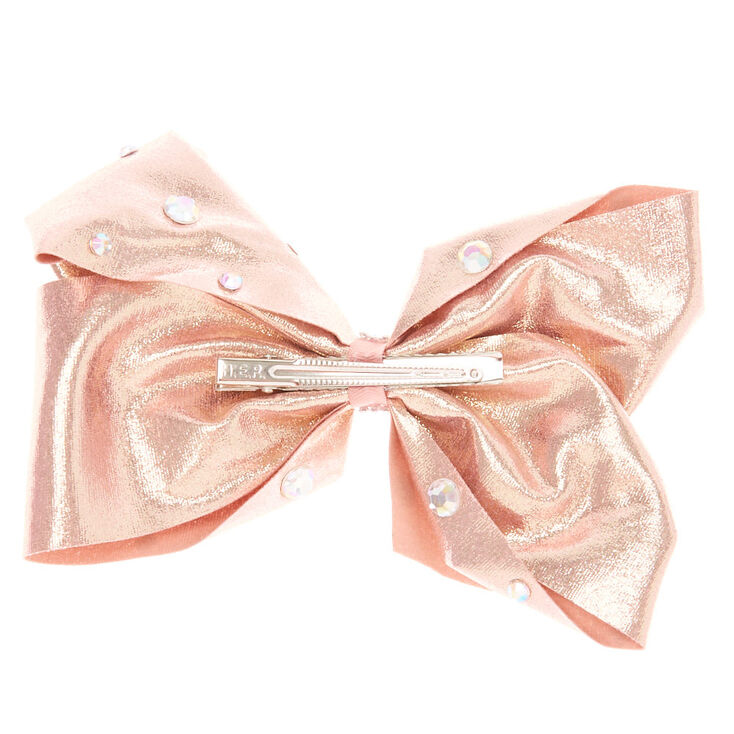 Jojo Siwa Large Signature Rock And Rose Gold Hair Bow Claire S