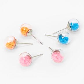Silver Star Shaker Stud Earrings - 3 Pack,