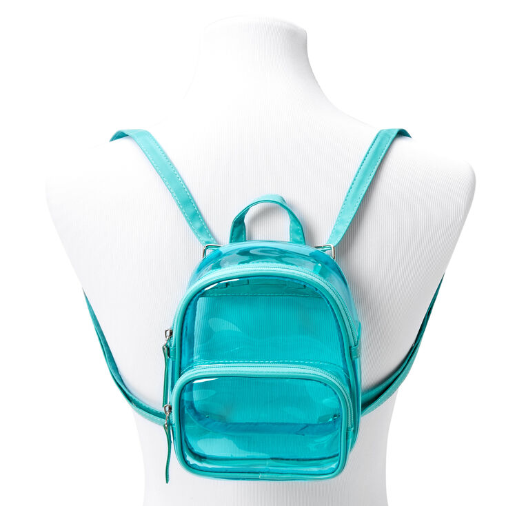 Teal Trim Mini Backpack - Clear,