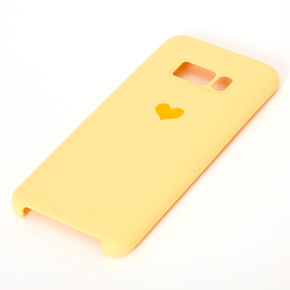 Yellow Heart Phone Case - Fits Samsung Galaxy S8,