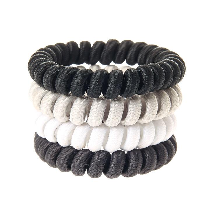 Black  amp  White Spiral Hair Bobbles 5b0b34c50c3
