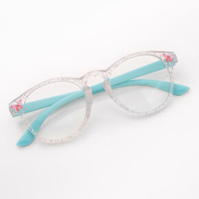 Claire's Club Butterfly Clear Lens Frames - Blue,