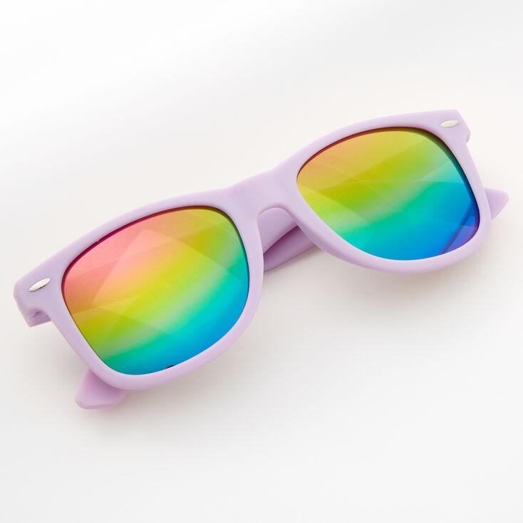 Rainbow Retro Sunglasses - Lavender,