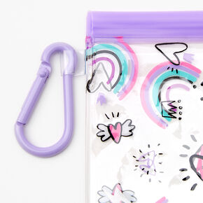 Pochette pour masque «Love» - Violet,