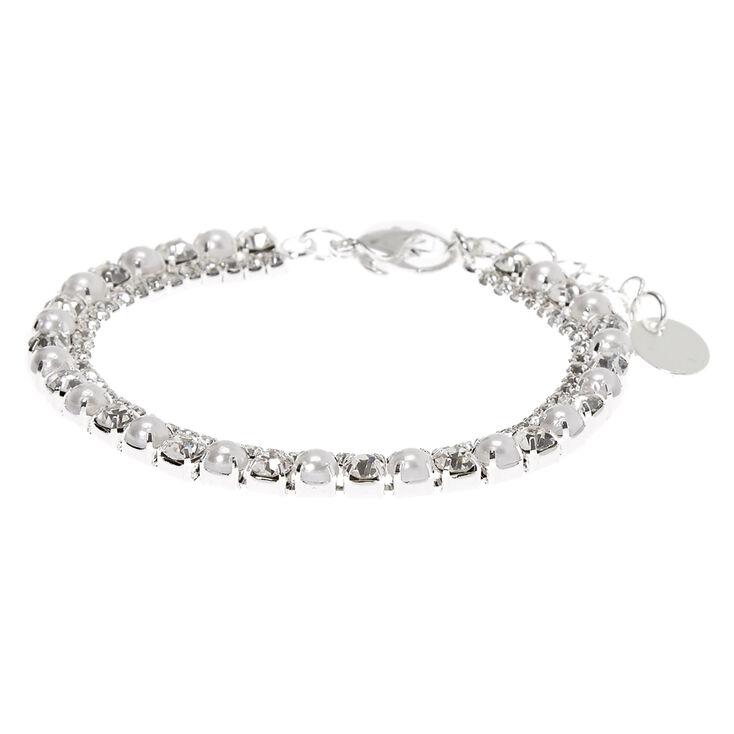 Silver Pearl & Rhinestone Jewelry Set - 3 Pack,