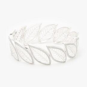 Silver Filigree Leaf Stretch Bracelet,