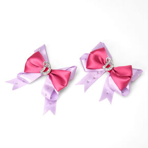 Love, Diana™ Pink & Purple D Initial Hair Bows – 2 Pack,