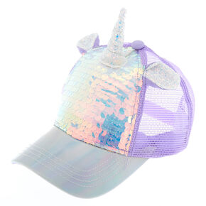 12396b649c6 Holographic Unicorn Sequin Baseball Cap