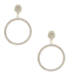 1 5 Circle Clip On Drop Earrings