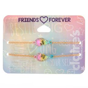 e0977921b4aa Best Friends Rainbow Heart Statement Bracelets - 2 Pack
