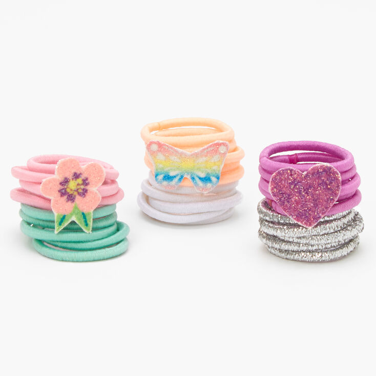 Claire's Club Spring Hair Ties - 30 Pack,