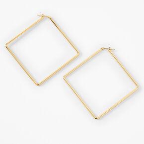 18kt Gold Plated Refined Rhombus Stud Earrings,