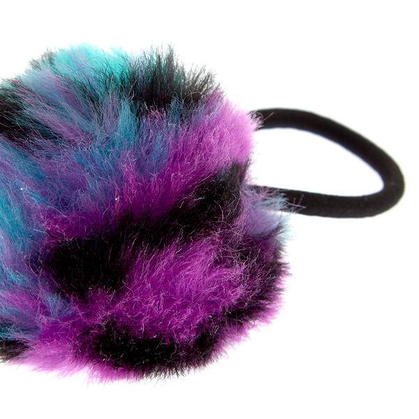 Claire's - rainbow leopard pom pom hair ties - 2