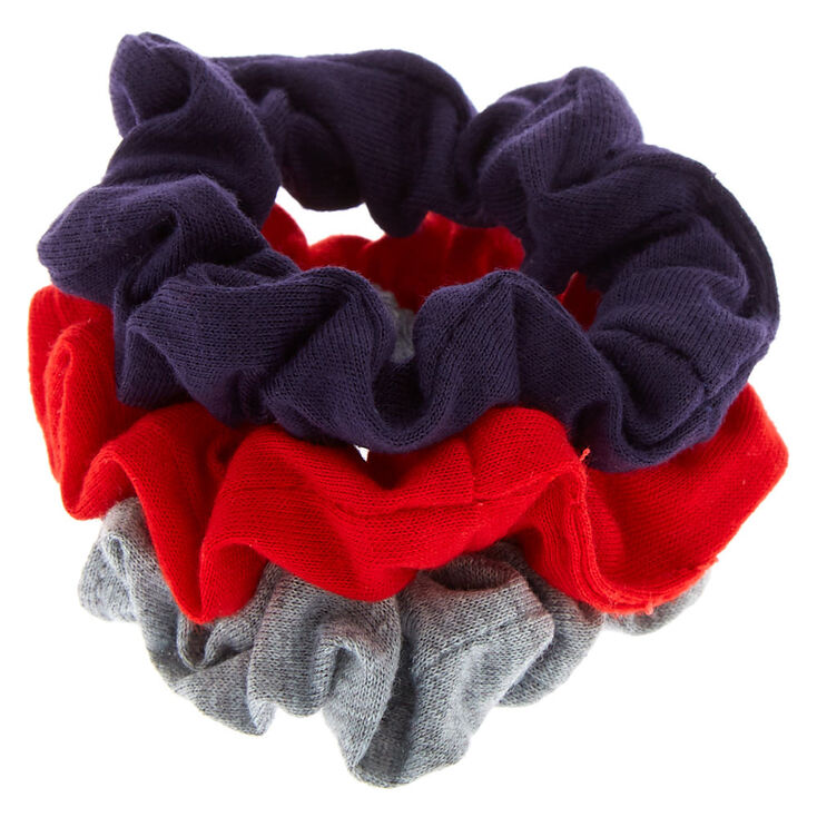 Claire's Club Small Old School Hair Scrunchies - 3 Pack,
