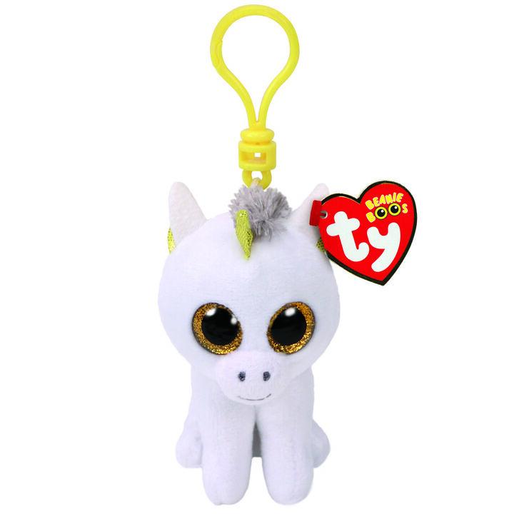 Porte-clés à clip TY Beanie Boo Pégase la licorne,