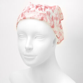 Marble Scarf Headwrap - Pink,