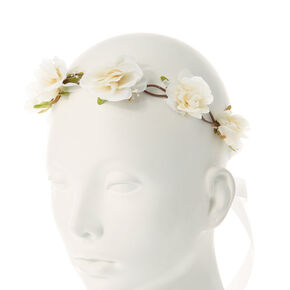 Pretty Cream Floral Headwrap,