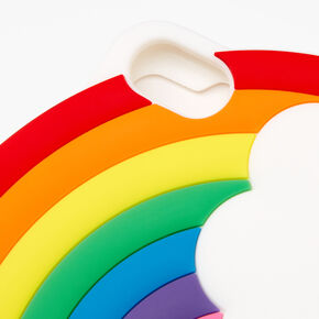 Rainbow & Clouds Silicone Phone Case - Fits iPhone 6/7/8/SE,