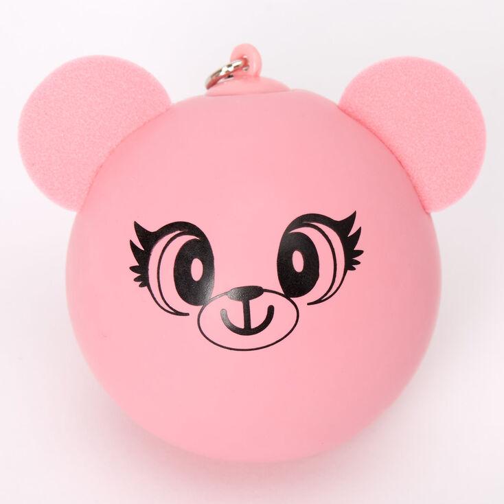 Bear Stress Ball Keychain - Pink,