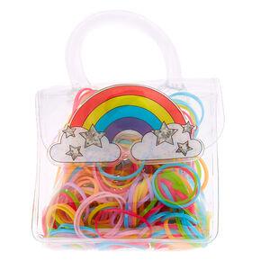 Claire's Club Rainbow Hair Bobbles & Bag,