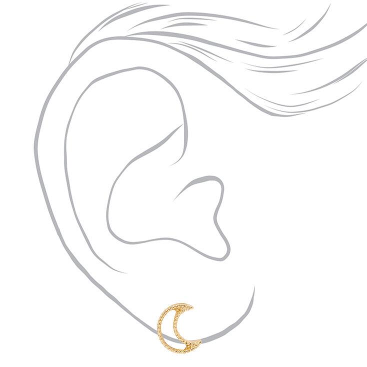 Gold Mixed Celestial Stud Earrings - 6 Pack,