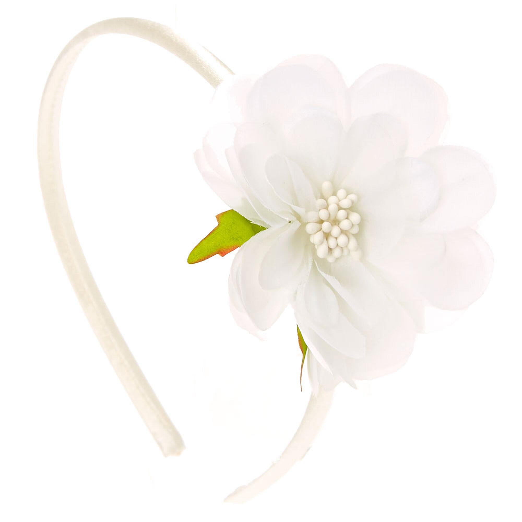 White Hibiscus Flower Headband Claires Us