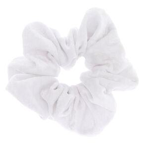 Large Velvet Hair Scrunchie - White 79411460bc9
