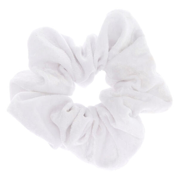 Claire's - large velvet hair scrunchie - 1