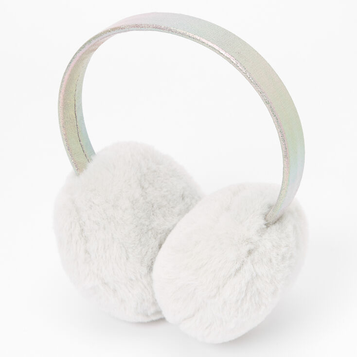 Plush Ear Muffs - Grey,