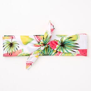 Neon Tropical Fruit Bandana Headwrap,