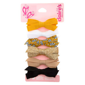 Claire's Club Summertime Hair Bow Clips - 6 Pack,