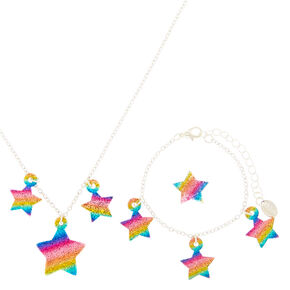 Claire's Club Glitter Star Jewelry Set - 3 Pack,