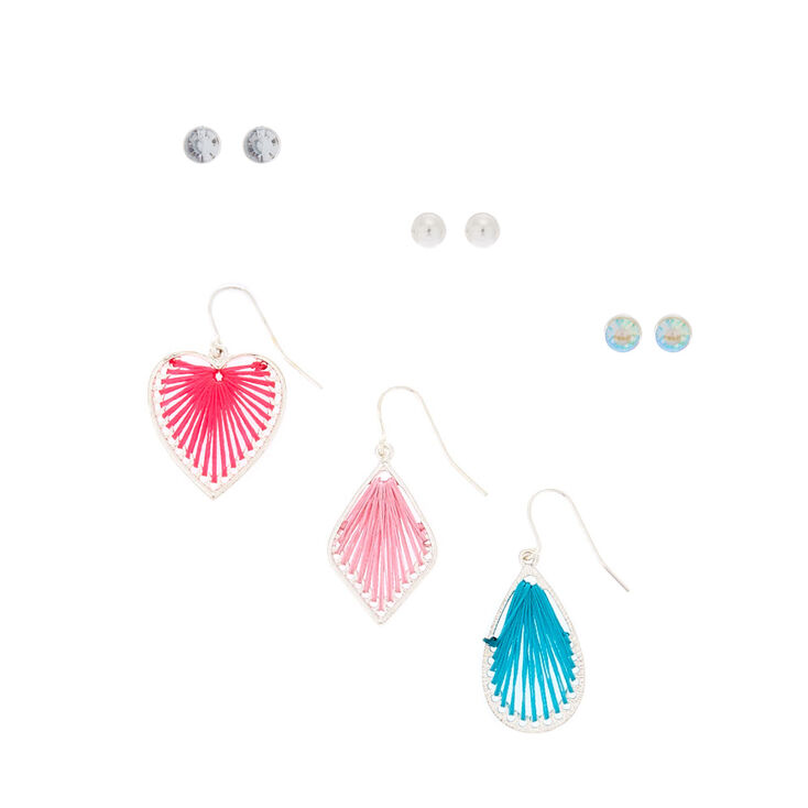 Threaded Earrings Set 6 Pack