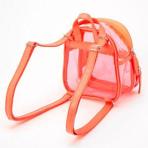 Coral Trim Mini Backpack - Clear,