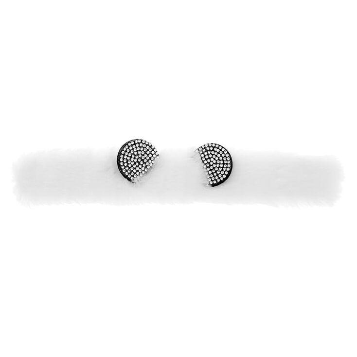 Furry Panda Slap Bracelet - White,