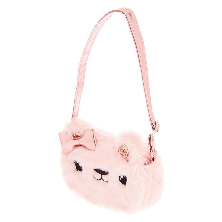 Claire's Club Furry Crossbody Bag - Pink,