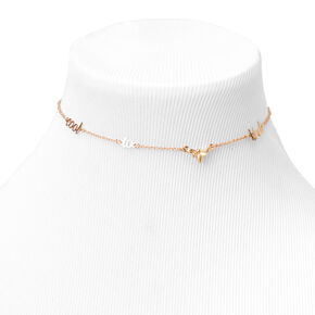 Gold Cool To Bee Kind Choker Necklace,
