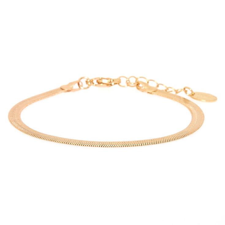 Gold Snake Chain Bracelet,