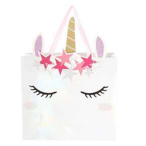 Medium Unicorn Gift Bag - White,