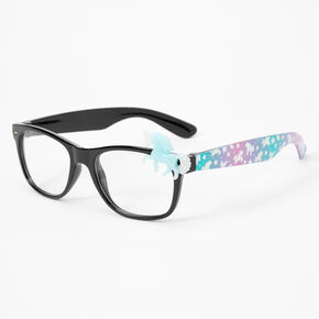 Claire's Club Unicorn Rectangle Clear Lens Frames - Blue,