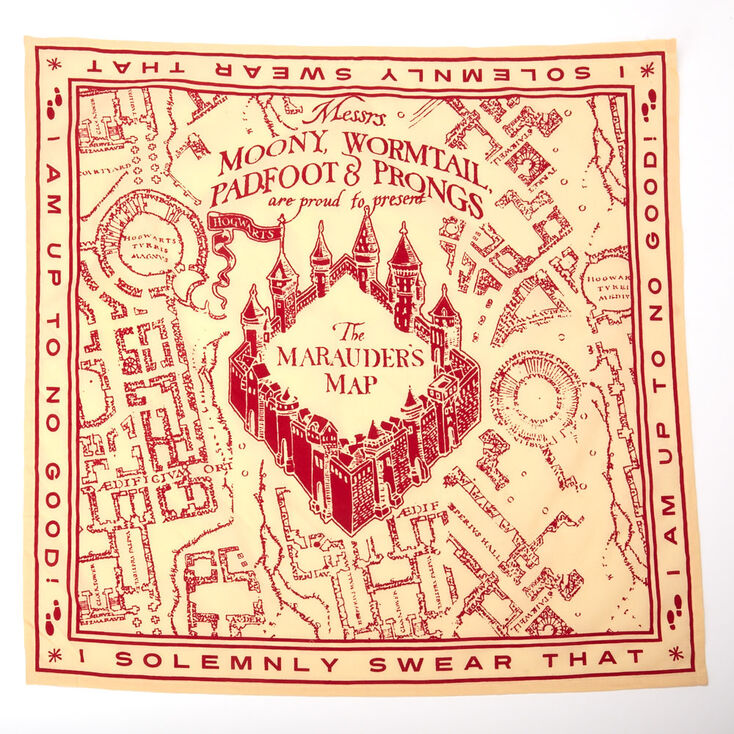 Harry Potter™ The Marauder's Map Bandana – Red,