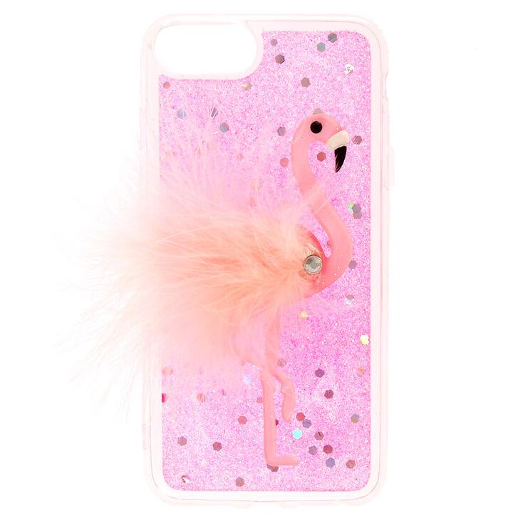 sale retailer 46b42 c2f22 Pink Feather Fur Flamingo Phone Case