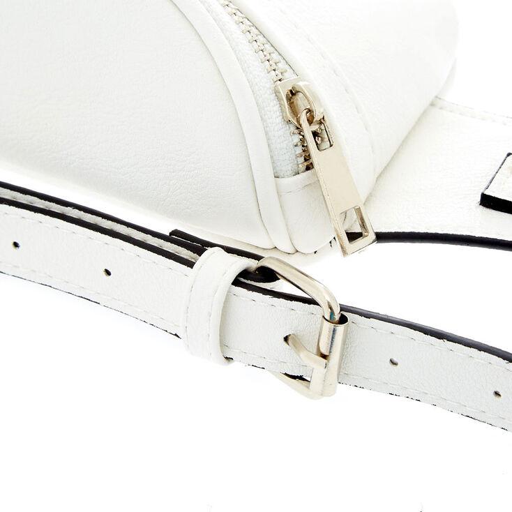 Faux Leather Bum Bag - White,
