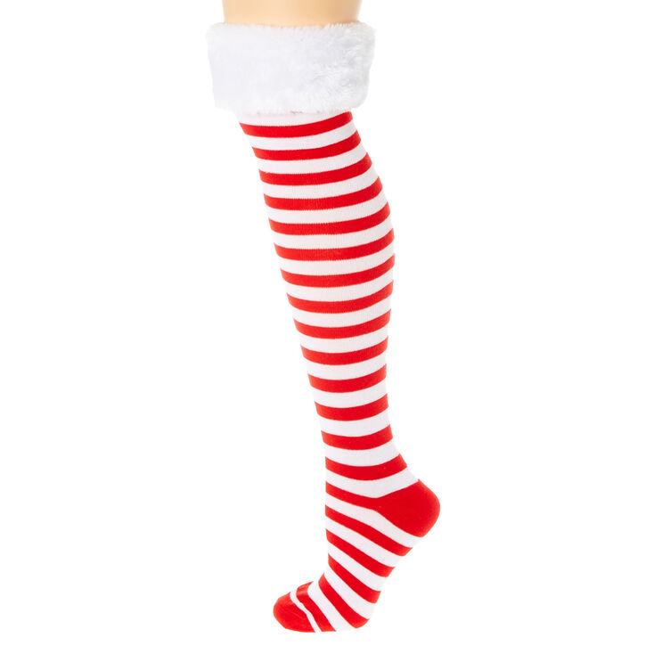 180b8af4c33 Red  amp  White Knee High Holiday ...